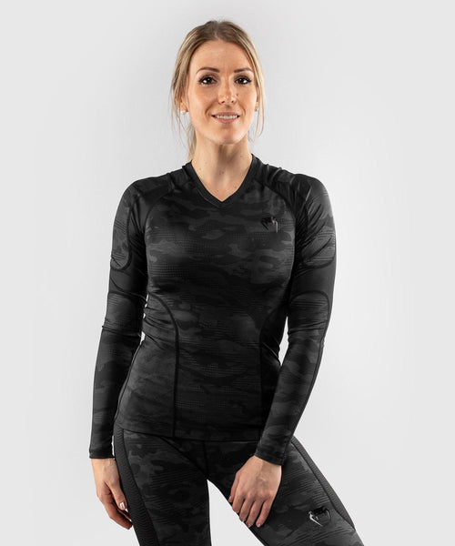Venum Defender long sleeve Rashguard - for women - Black/Black picture 1