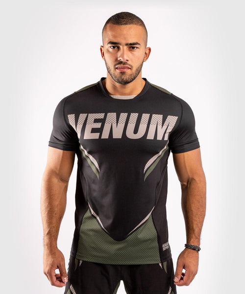 Venum ONE FC Impact Dry Tech T-Shirt - Black/Khaki - picture 1