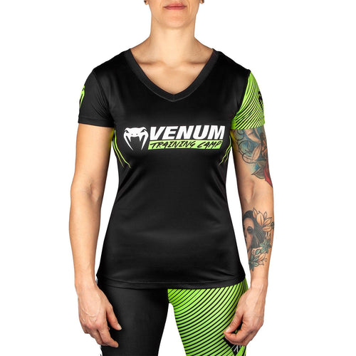 Venum Training Camp 2.0 Women T-shirt - Black/Neo Yellow picture 1