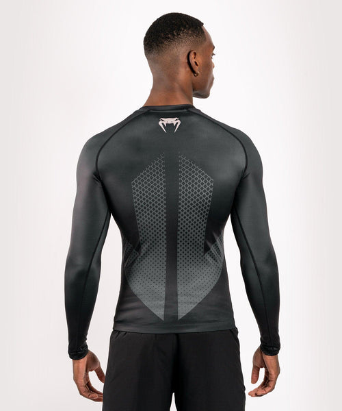 Venum Arrow Loma Signature Collection Long Sleeve Rashguard - Black/White picture 2