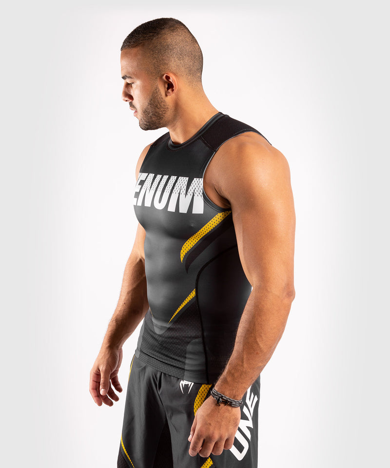 Venum ONE FC Impact Rashguard - sleeveless - Grey/Yellow - picture 3