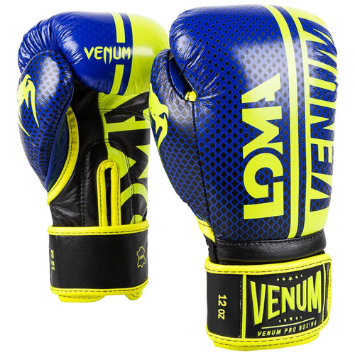 Venum Shield Pro Boxing Gloves Loma Edition - Velcro – Blue/Yellow picture 1