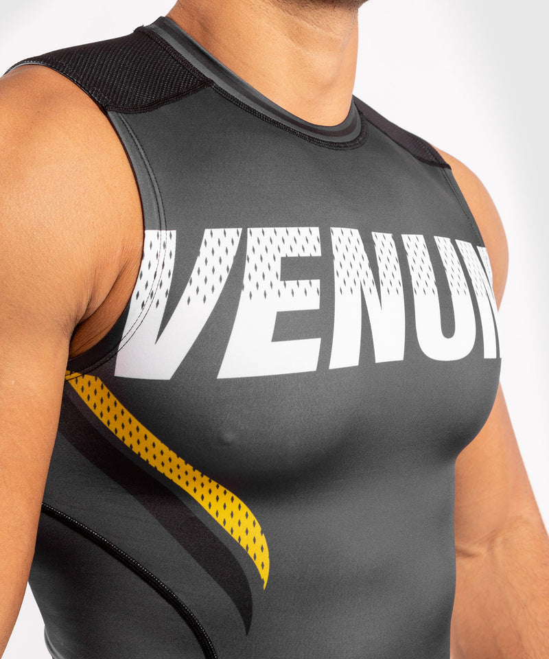 Venum ONE FC Impact Rashguard - sleeveless - Grey/Yellow - picture 5