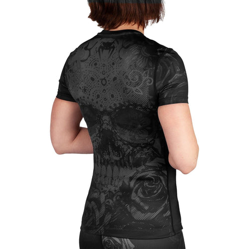 Venum Santa Muerte 3.0 Rashguard - Short Sleeves - For Women – Black/Black picture 3