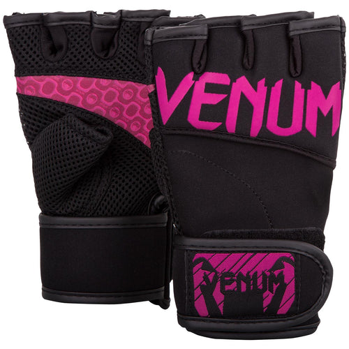 Venum Aero Body Fitness Gloves - Black/Neo Pink picture 1