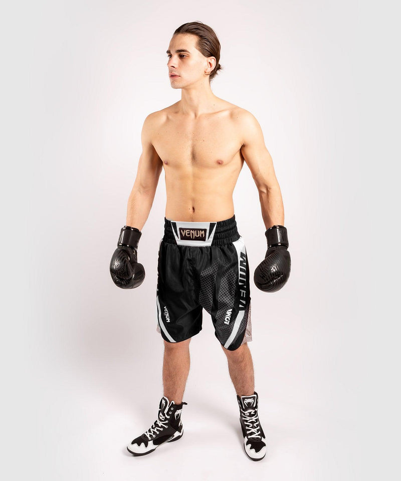 Venum Arrow Loma SIgnature Collection Boxing Shorts - Black/White picture 8