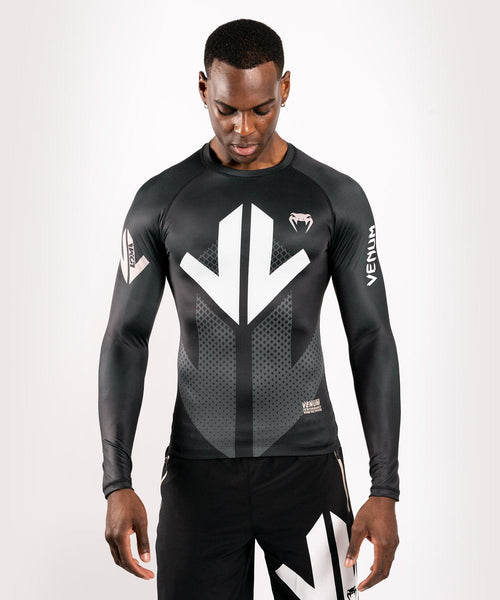 Venum Arrow Loma Signature Collection Long Sleeve Rashguard - Black/White picture 1