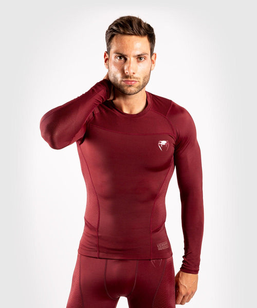 Venum G-Fit Rashguard - Long Sleeves - Burgundy picture 1