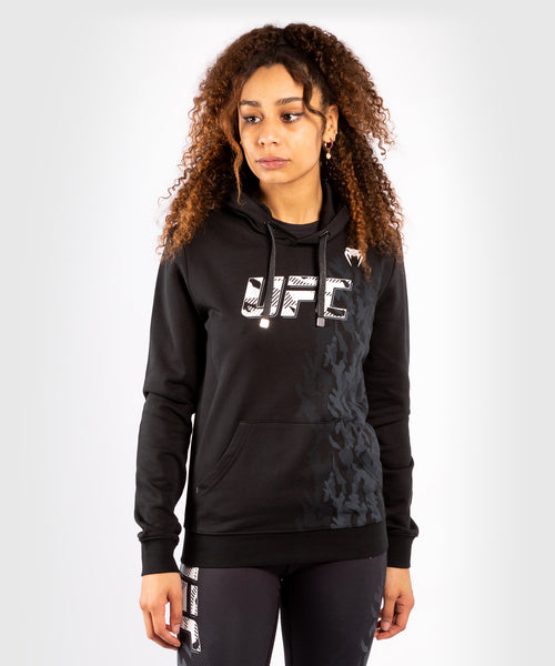 UFC Venum Authentic Fight Week Women's Pullover Hoodie – Black Picture 1