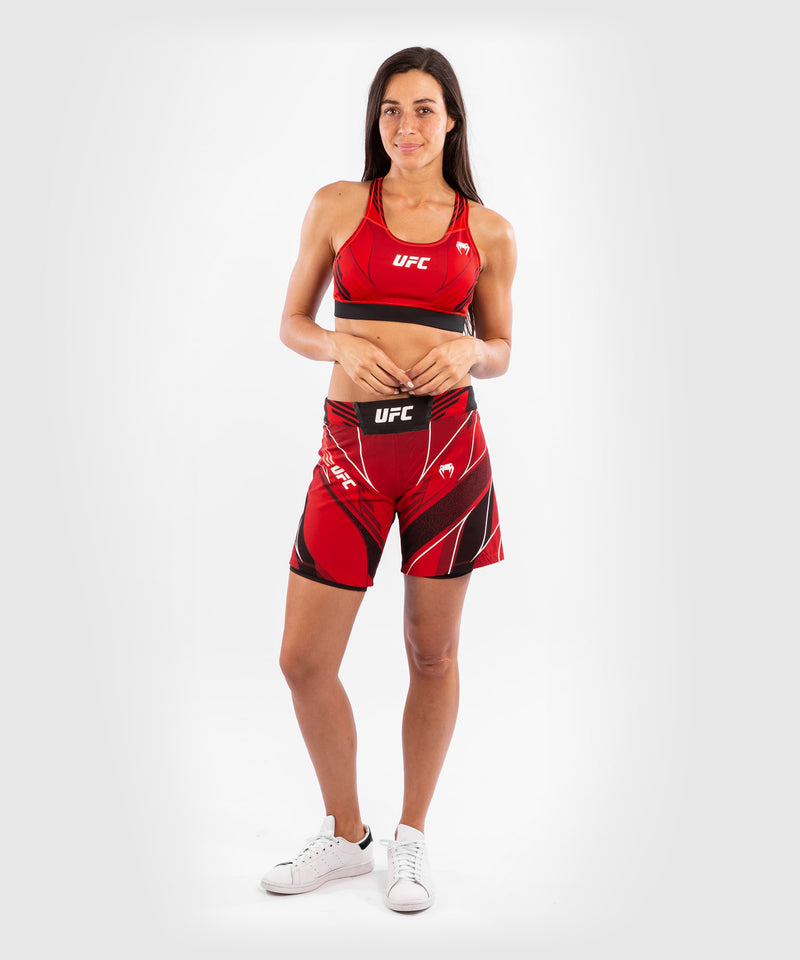 UFC Venum Authentic Fight Night Women's Shorts - Long Fit – Red Picture 8