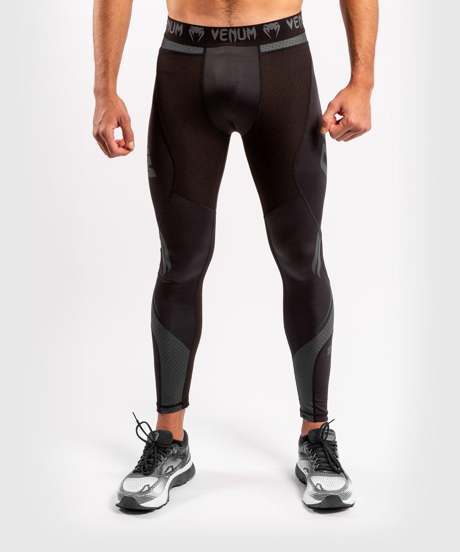Venum ONE FC Impact Compresssion Tights - Black/Black - picture 1