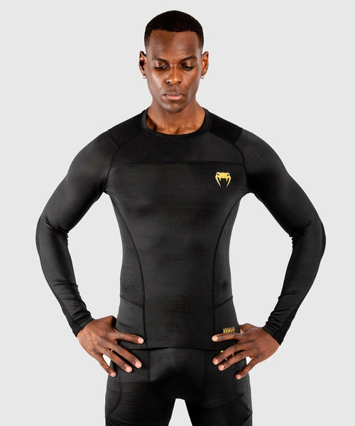 Venum G-Fit Rashguard - Long Sleeves – Black/Gold picture 1