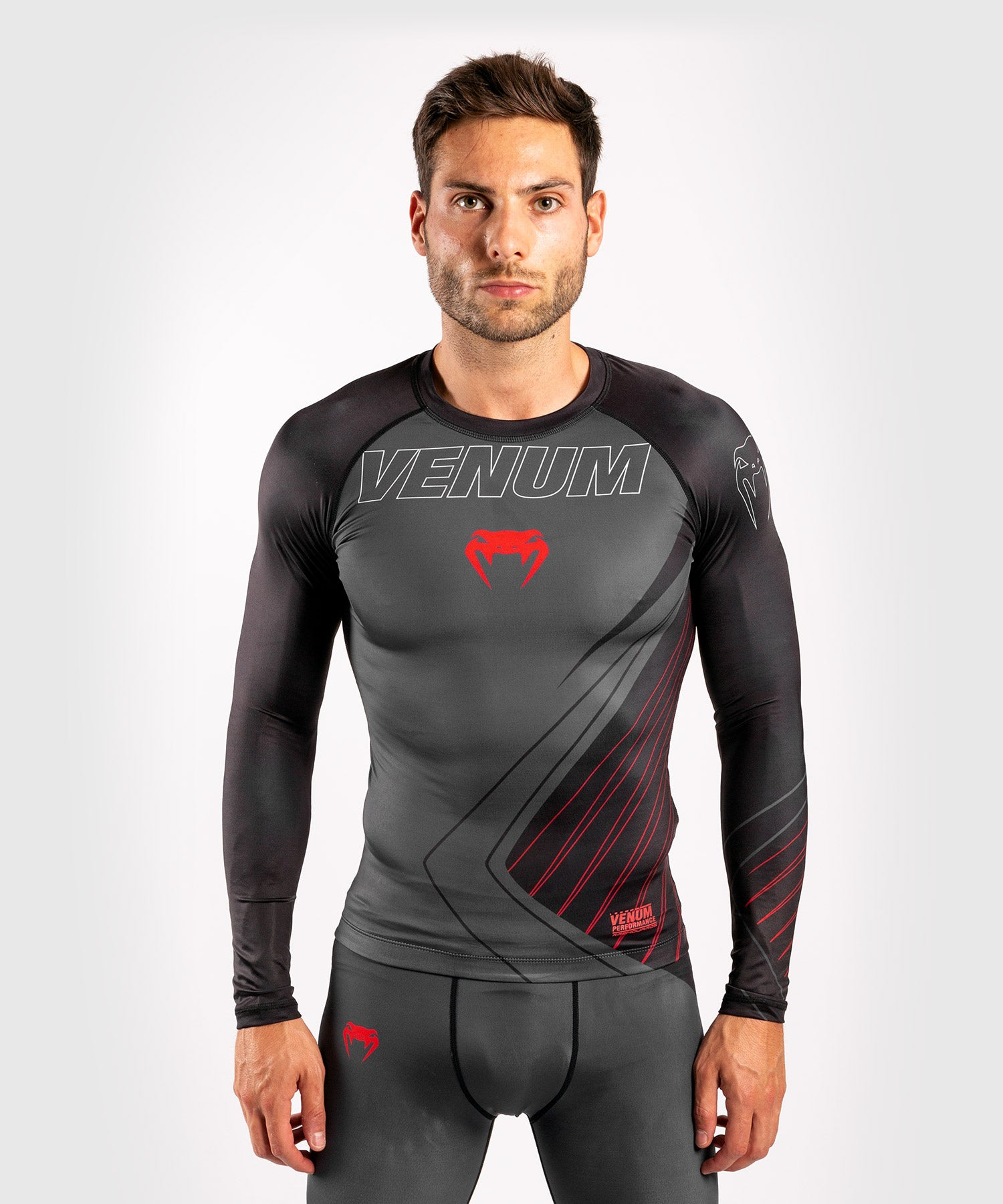 Venum Contender 5.0 Rashguard - Long sleeves - Black/Red picture 1
