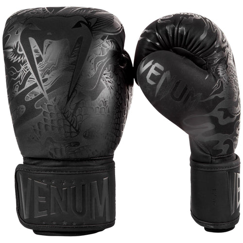 Venum Dragon's Flight Boxing Gloves – Black/Black picture 2