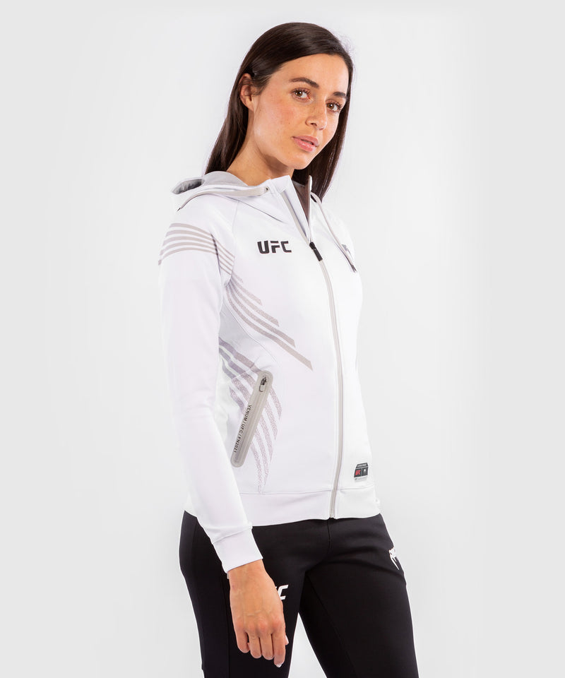 UFC Venum Authentic Fight Night Women's Walkout Hoodie – White Picture 3