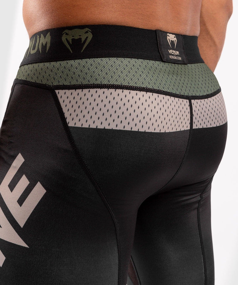 Venum ONE FC Impact Compresssion Tights - Black/Khaki - picture 6