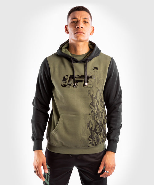 UFC Venum Authentic Fight Week Men's Pullover Hoodie – Khaki Picture 1