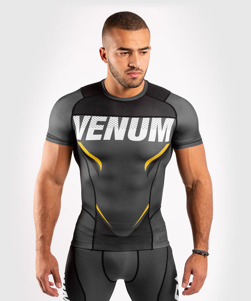 Venum ONE FC Impact Rashguard - short sleeves - Grey/Yellow - picture 1