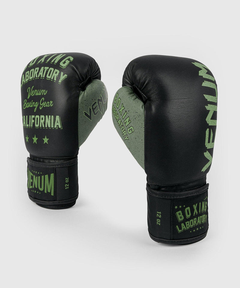 Venum Boxing Lab Gloves - Black/Green picture 1