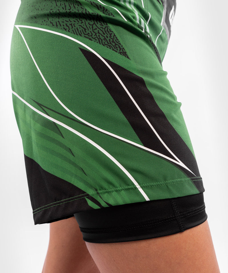 UFC Venum Authentic Fight Night Women's Shorts - Long Fit – Green Picture 7