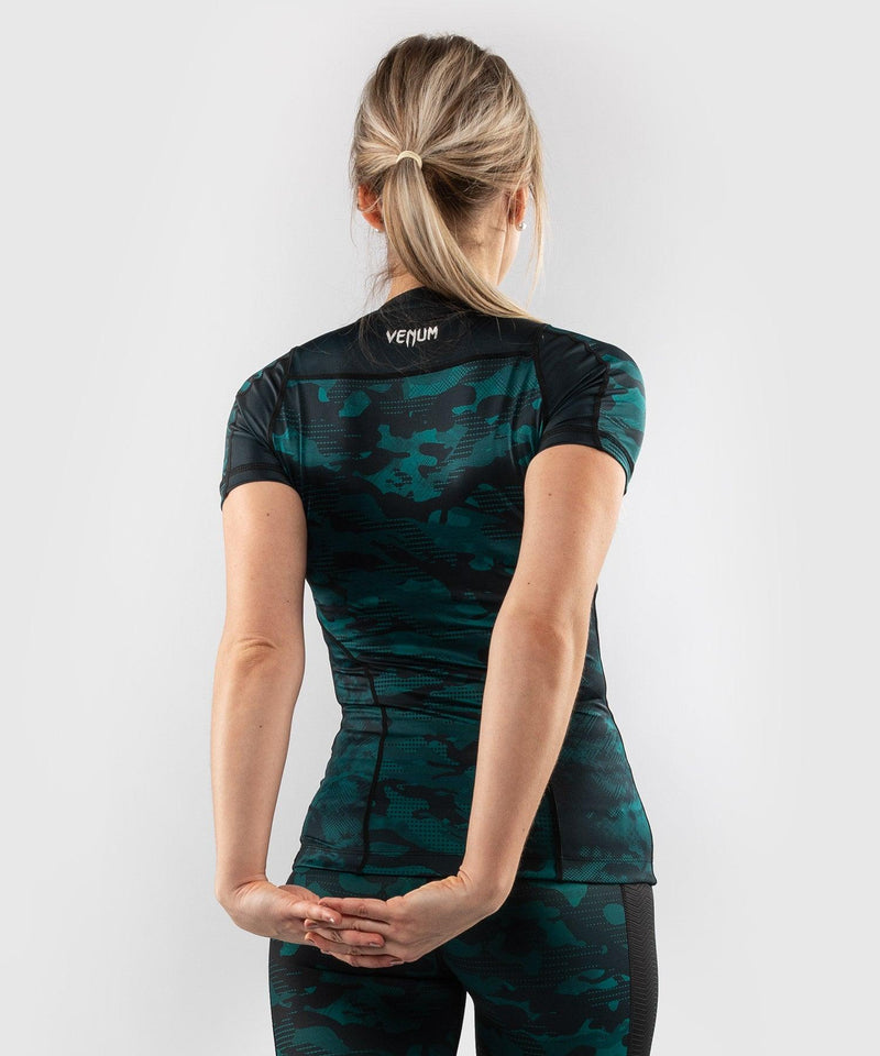 Venum Defender Rashguard - Short Sleeves - Black/Green picture 2