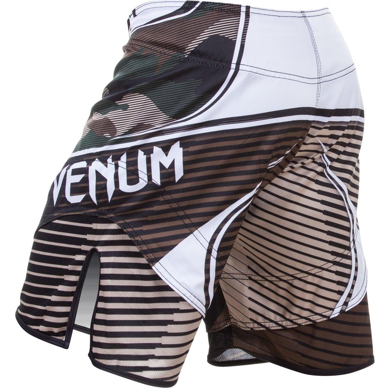 X-Large Venum Mens Camo Hero Training Shorts-WhiteBlack