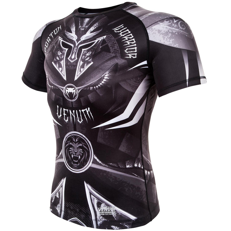 Venum Gladiator 3.0 Rashguard - Black/White - Short Sleeves picture 3