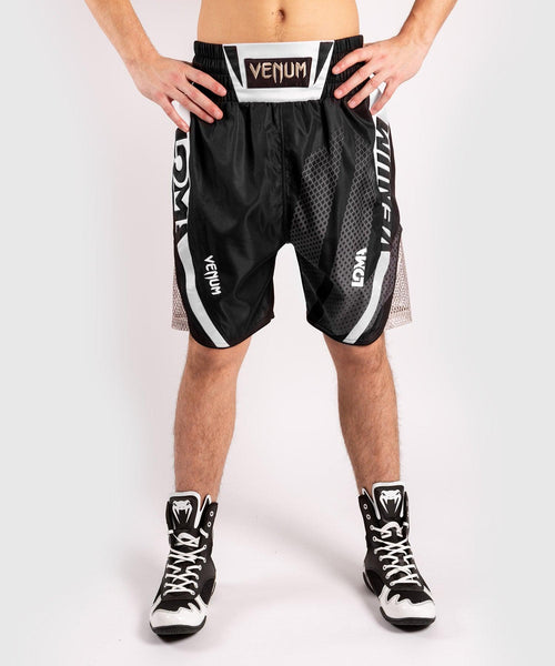Venum Arrow Loma SIgnature Collection Boxing Shorts - Black/White picture 1