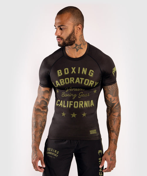 Venum Boxing Lab Rashguard - Short sleeves - Black/Green picture 1