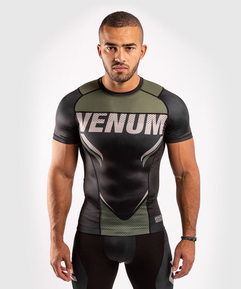 Venum ONE FC Impact Rashguard - short sleeves - Black/Khaki - picture 1
