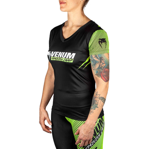 Venum Training Camp 2.0 Women T-shirt - Black/Neo Yellow picture 2
