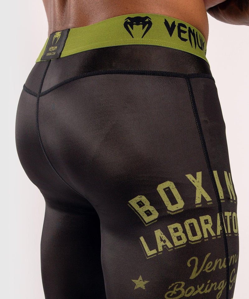 Venum Boxing Lab Compression Tights - Black/Green picture 7