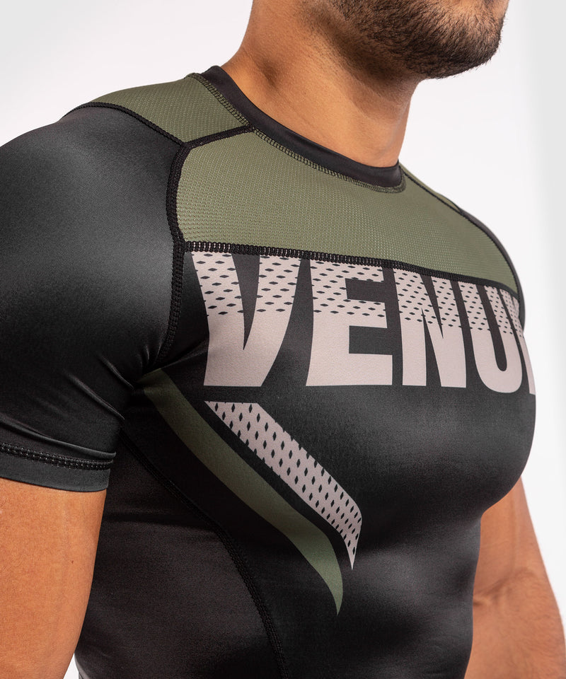 Venum ONE FC Impact Rashguard - short sleeves - Black/Khaki - picture 5