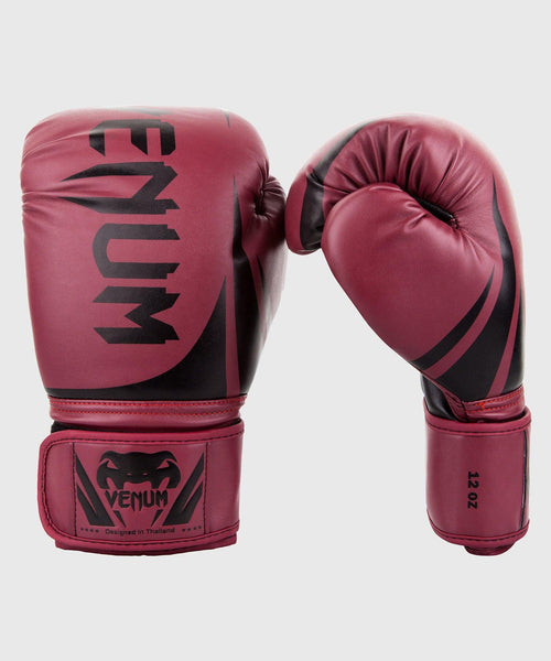 Venum Challenger 2.0 Boxing Gloves - Burgundy/Black picture 1