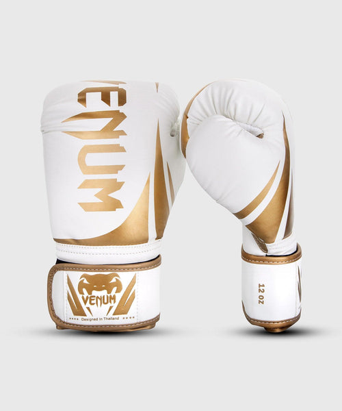 Venum Challenger 2.0 Boxing Gloves – White/Gold picture 1