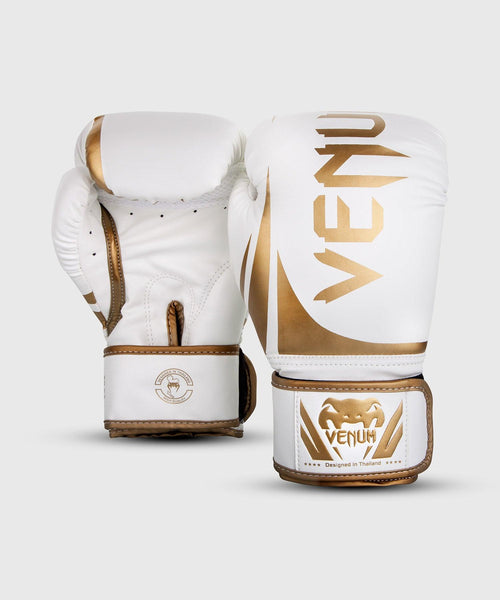 Venum Challenger 2.0 Boxing Gloves – White/Gold picture 2
