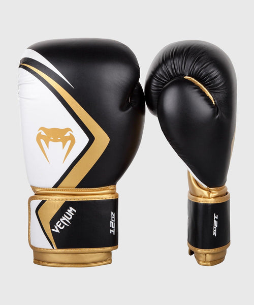 Venum Boxing Gloves Contender 2.0 - Black/White-Gold picture 1