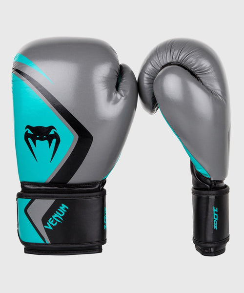 Venum Boxing Gloves Contender 2.0 - Grey/Turquoise-Black picture 1
