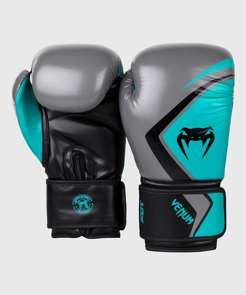 Venum Boxing Gloves Contender 2.0 - Grey/Turquoise-Black picture 2