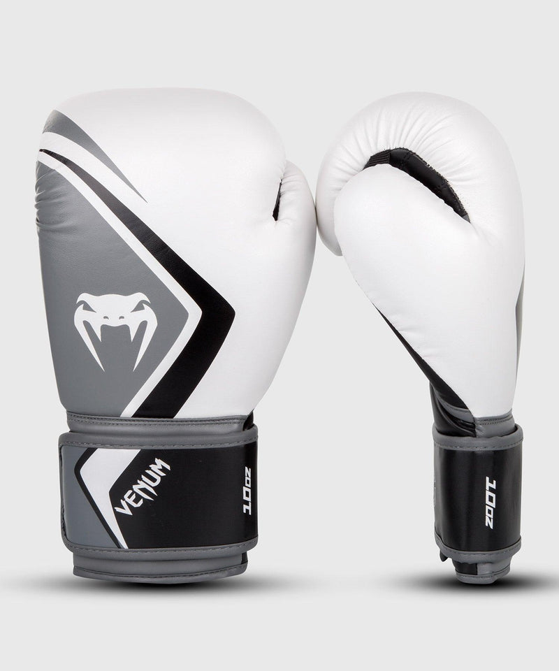 Venum Boxing Gloves Contender 2.0 – White/Grey-Black picture 1