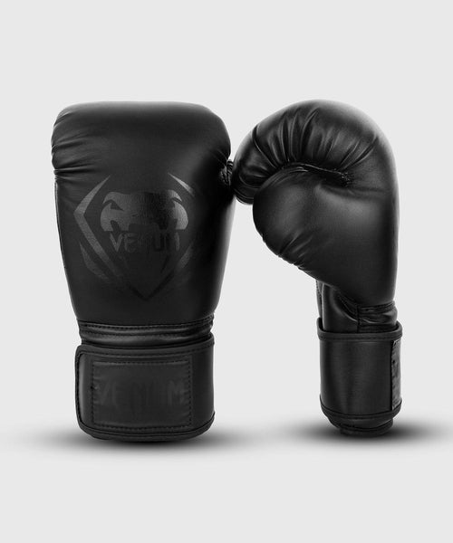 Venum Contender Boxing Gloves – Black/Black picture 1