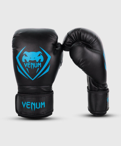 Venum Contender Boxing Gloves - Black/Cyan picture 1