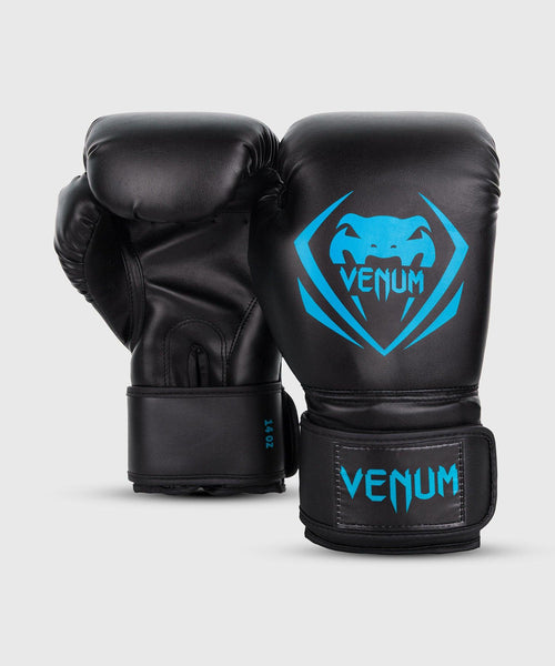 Venum Contender Boxing Gloves - Black/Cyan picture 2