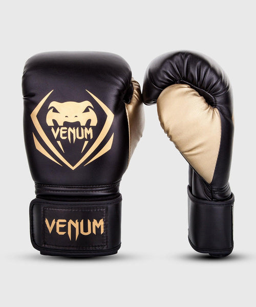 Venum Contender Boxing Gloves – Black/Gold picture 1