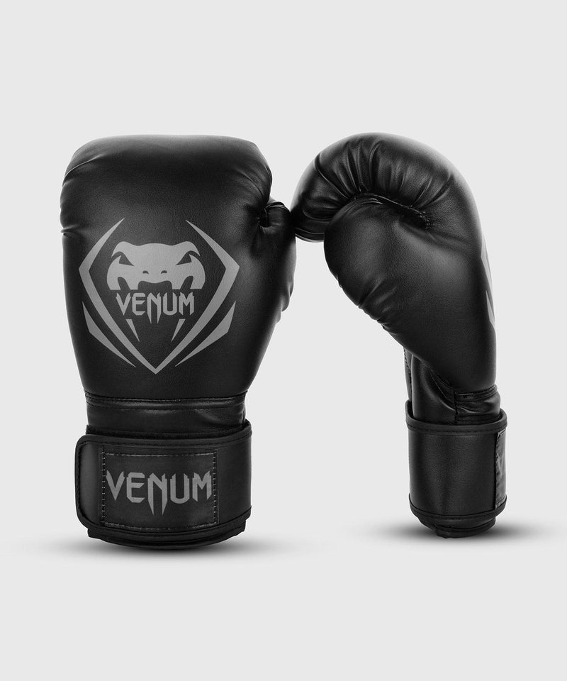 Venum Contender Boxing Gloves – Black/Grey picture 1