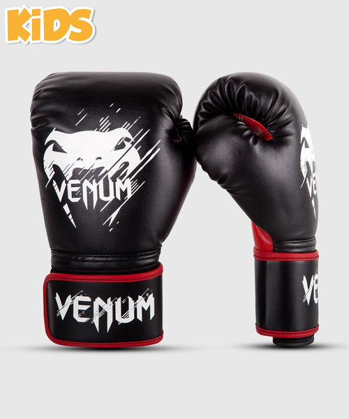 Venum Contender Kids Boxing Gloves - Black/Red picture 1