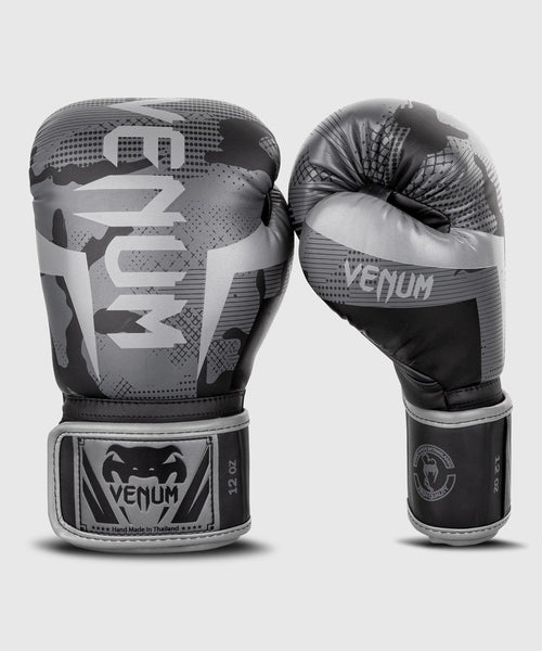 Venum Elite Boxing Gloves - Black/Dark camo picture 1