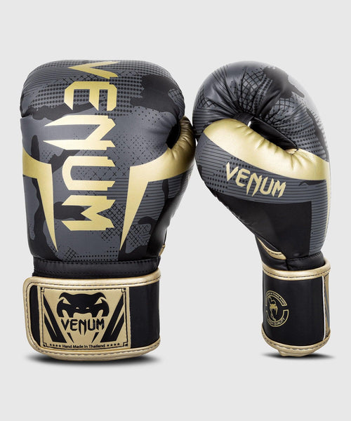 Venum Elite Boxing Gloves - Dark camo/Gold picture 1
