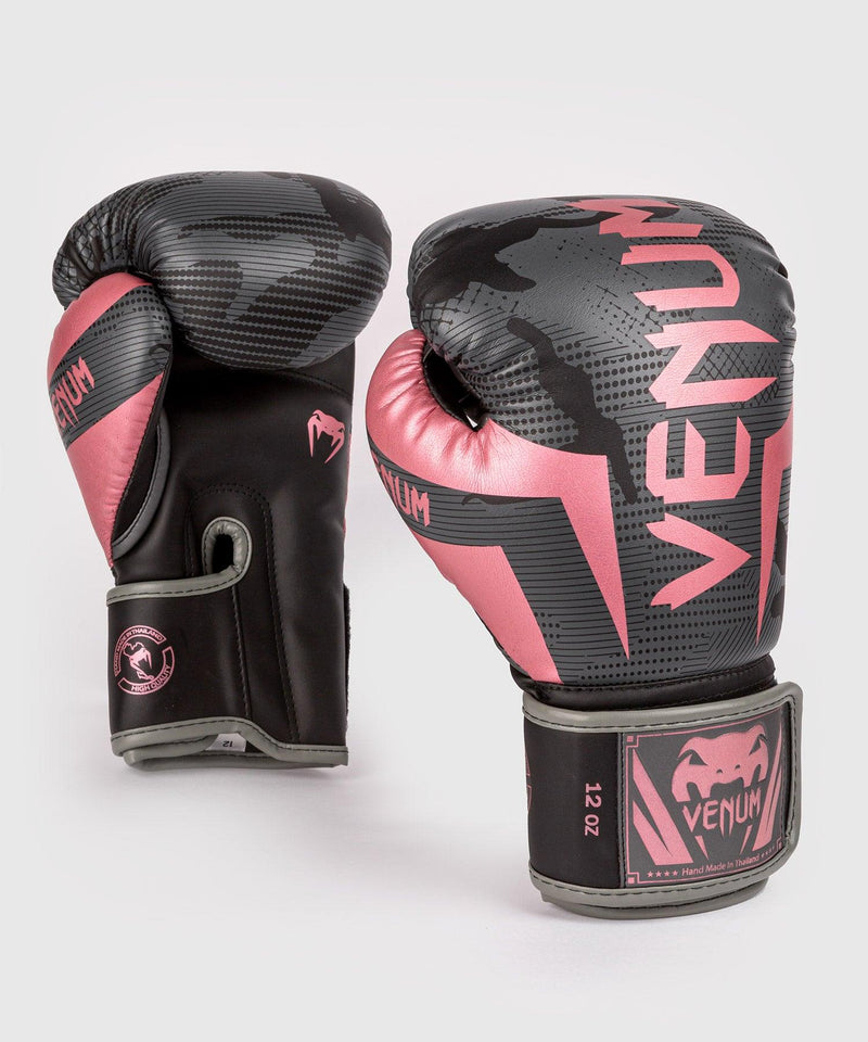 Venum Elite Boxing Gloves - Black/Pink Gold picture 1