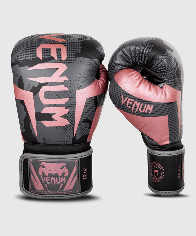 Venum Elite Boxing Gloves - Black/Pink Gold picture 3